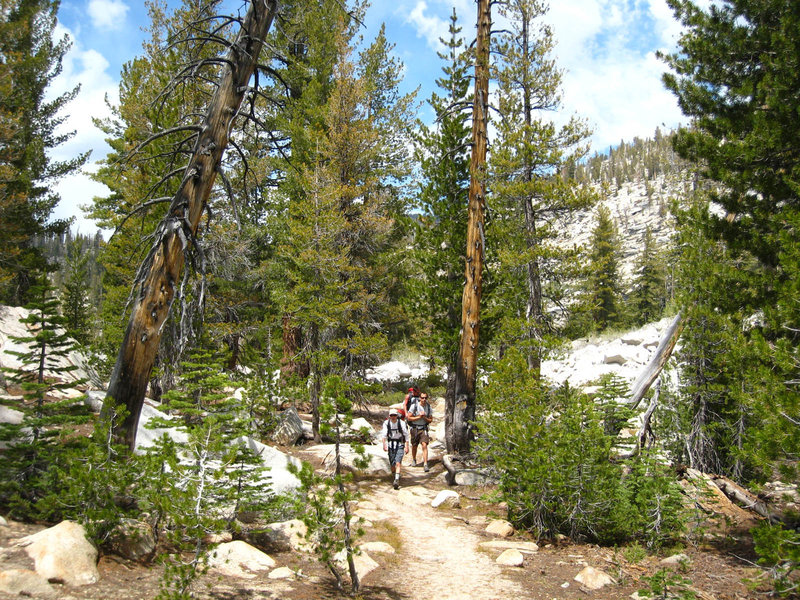 Typical high Sierra terrain along the Clouds Rest Trail. with permission from MrRedwood