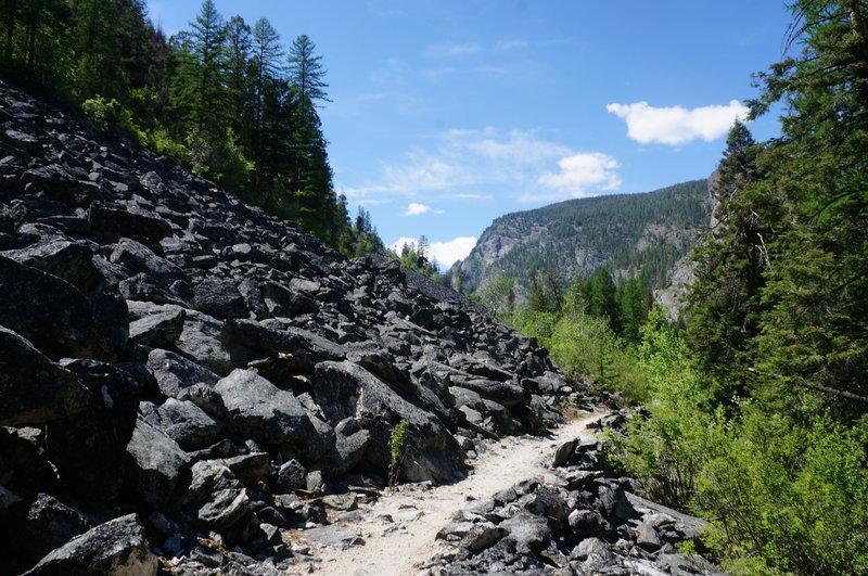 Rock quarry on the Bear Creek Trail.