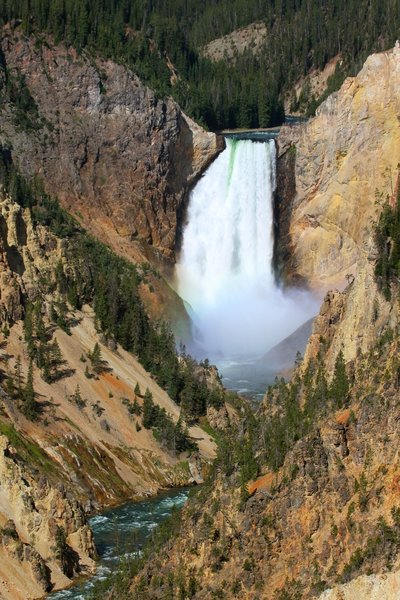 Lower Yellowstone Falls from Artist's Point.