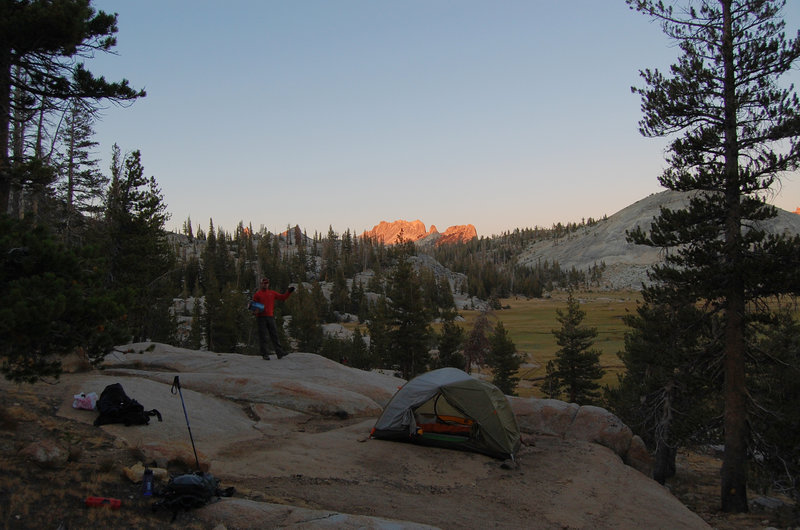 Brilliant sunrises reward the camp's early risers