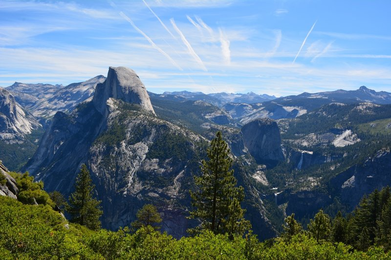A lovely summer day at Glacier Point.