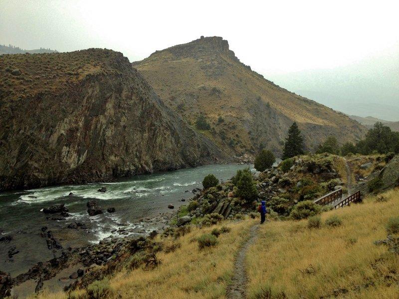 Yellowstone River near the Bear Creek bridge.