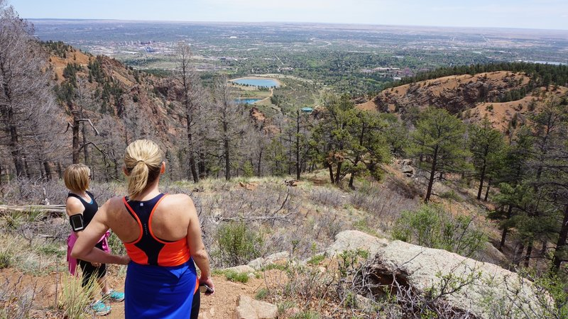 Overlooking Colorado Springs about half way up the Mt. Muscoco trail.