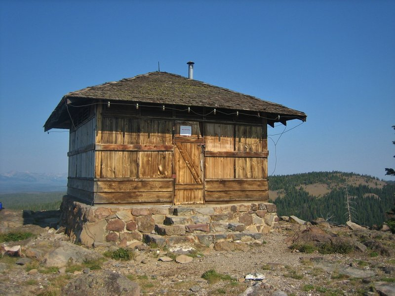 Secondary fire lookout on Observation Peak, built by the C.C.C in 1939.