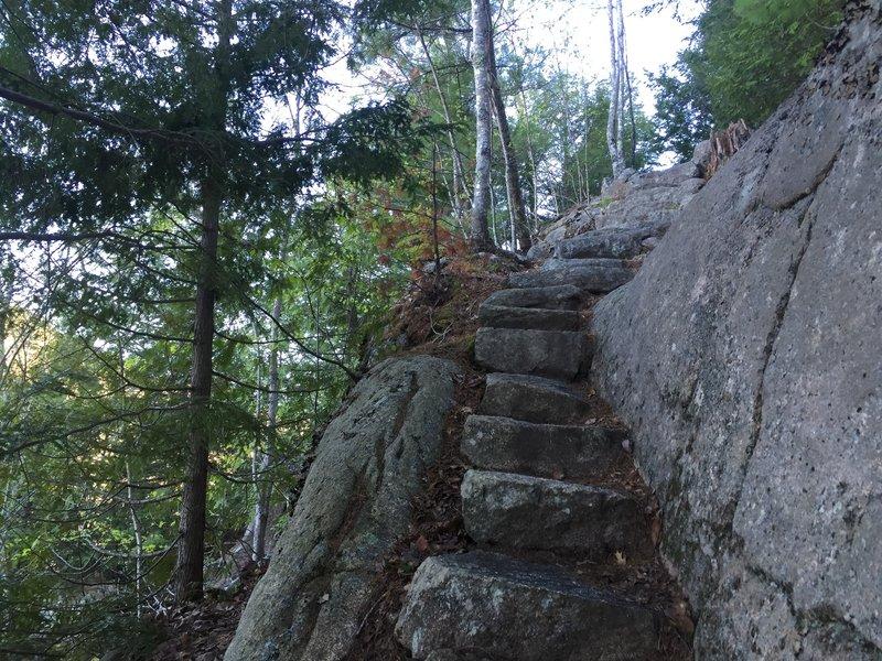 Stone steps on Kurt Diederichs Climb.