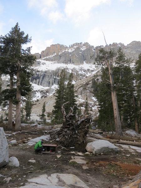 Emerald Lake Campsite on Lakes Trail.