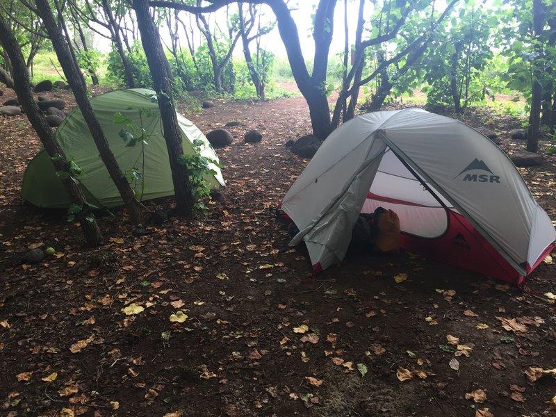 Kalalau Beach Campsite.