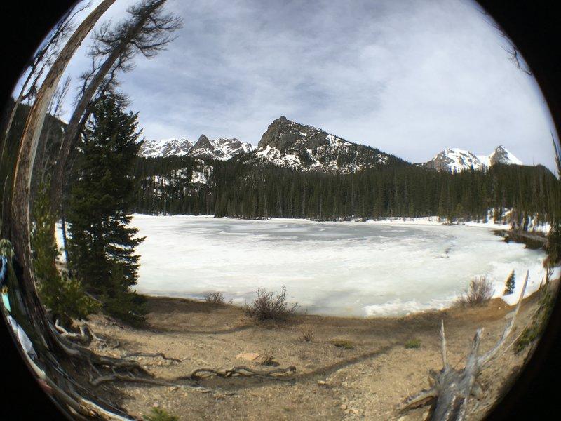 Fish eye view of Fern Lake.