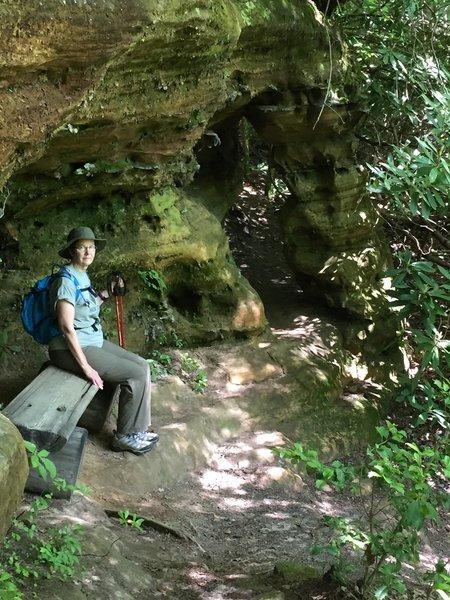 Relaxing before going through the hidden passage.