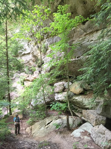 There are many beautiful rock formations along the trail