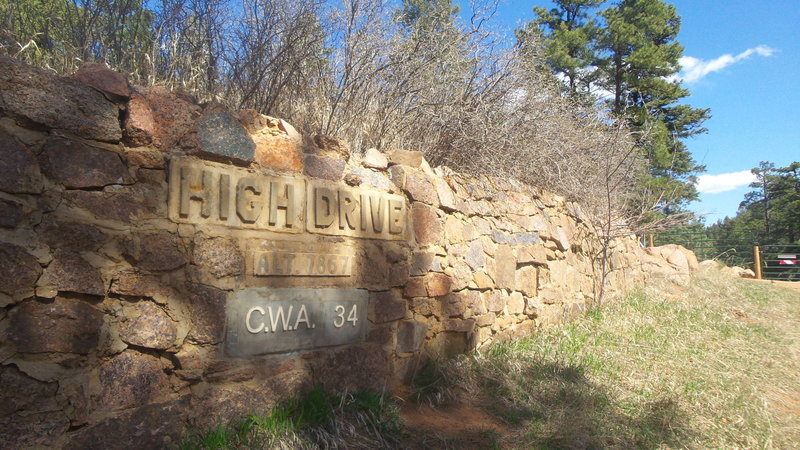 Top of High Drive.