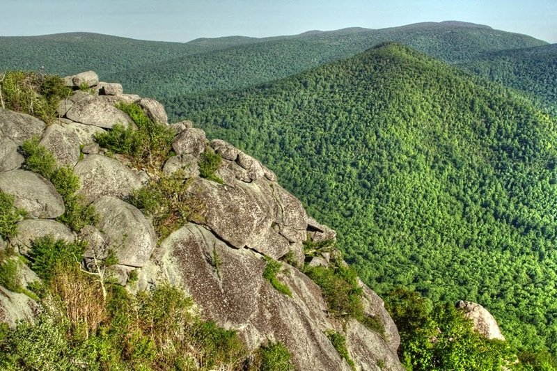 View from the summit of Old Rag Mountain.