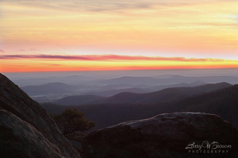 View from Hazel Mountain Overlook.