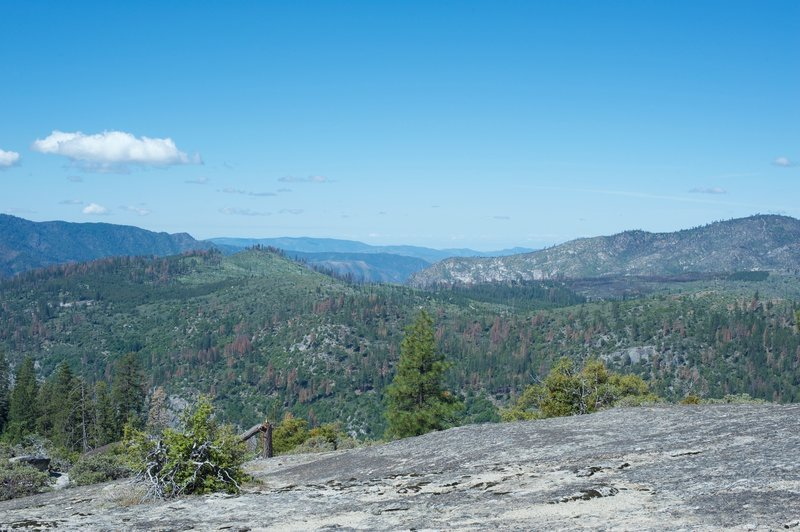 A view to the west from the top of Turtleback Dome.