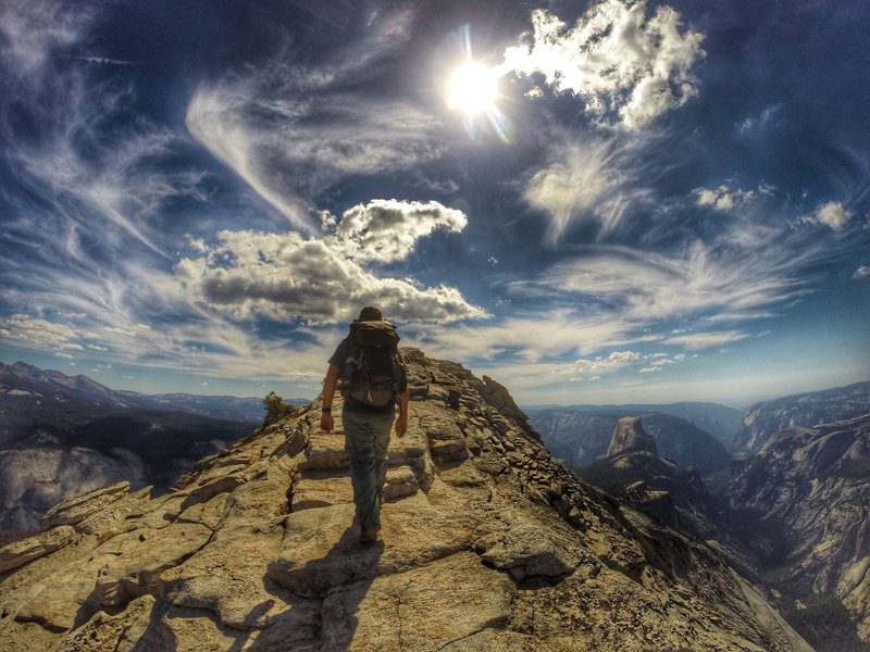 Such an incredible spot in Yosemite. Clouds Rest is appropriately named with 360 views of the park including Half Dome.