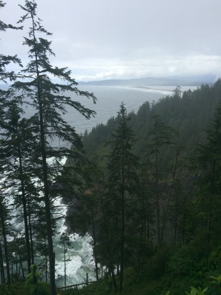 View north along the Pacific coast.