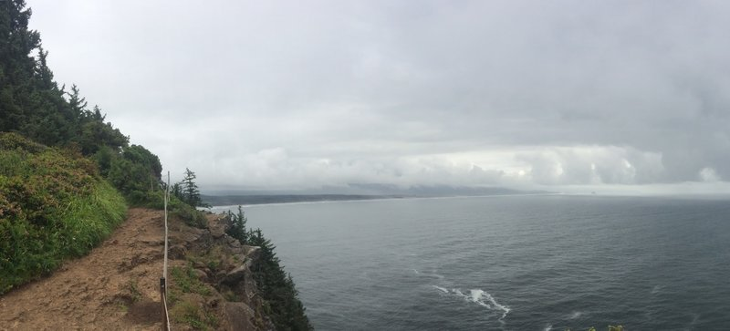 Looking south at the end of Cape Lookout Trail.