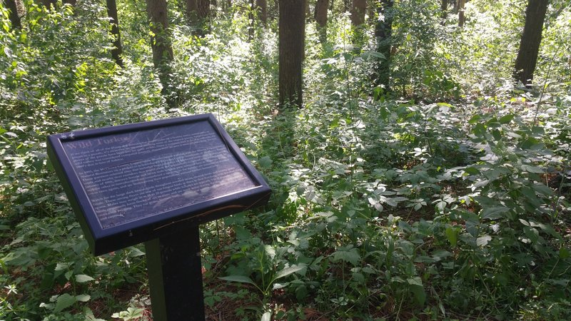 One of the interpretive signs found scattered throughout the preserve.