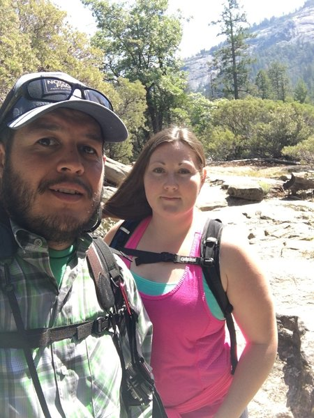 Amy and I along the Chilnualna Trail.
