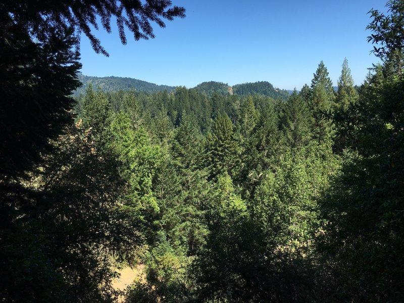 Rare view from Pool Ridge Trail.