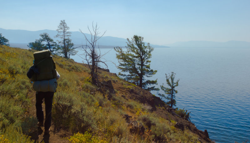 Traveling along Yellowstone Lake. with permission from Hobbes7714 Photo Credit: Andrew Wahr  Link: https://twitter.com/WahrAndrew