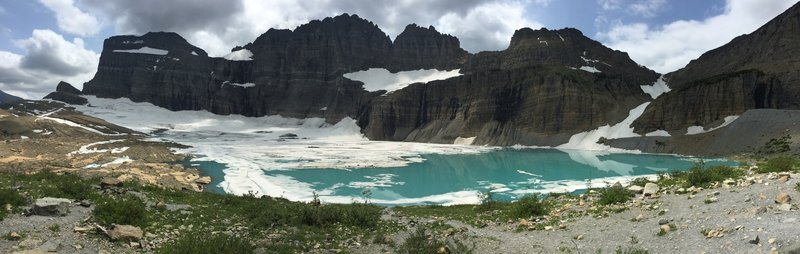 A view of Upper Grinnell Lake and the glacier itself.