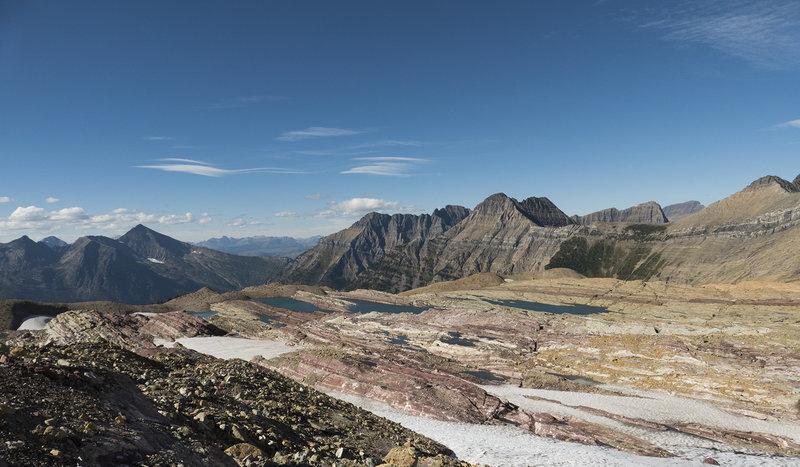 View just below Sperry Glacier.