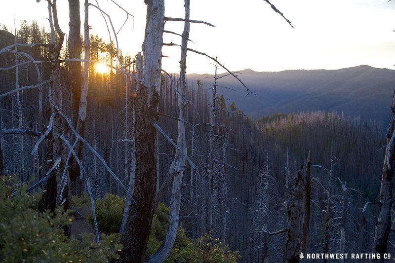 Sunset on Bald Mountain.