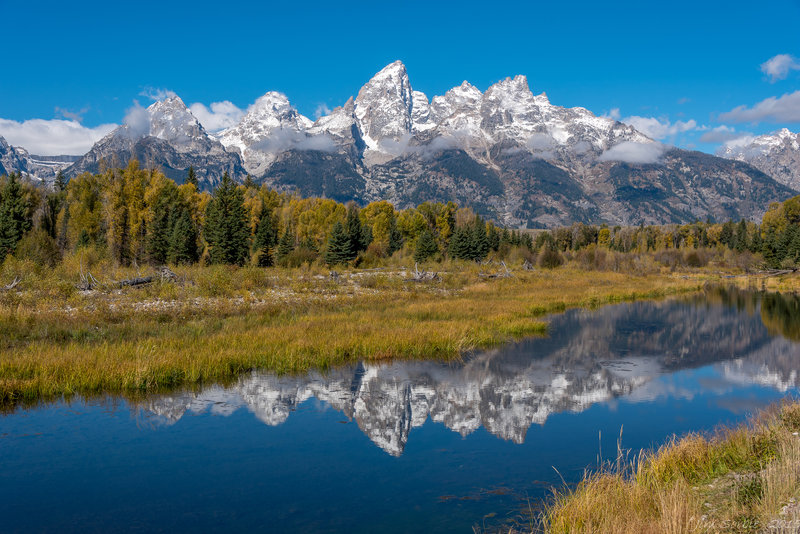 Mountain view from Schwabacher's Landing.
