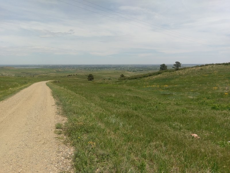 Looking across into the town of Berthoud.