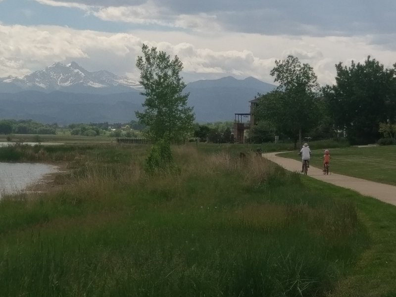 The paved portion of the multi-use path around McIntosh Lake.