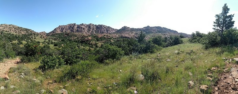 Panoramic from the trail.