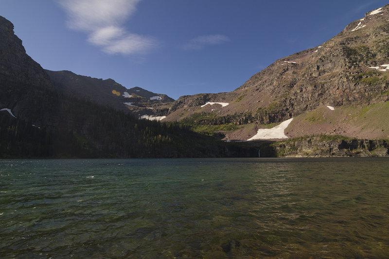 View of Buffalo Woman Lake from shore.