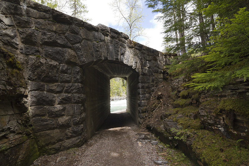 Underpass for trail as it goes under Going-to-the-Sun Road.