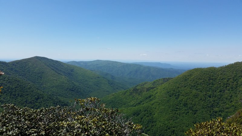 This is a view from the Chimney Tops, Great Smoky Mountain National park.