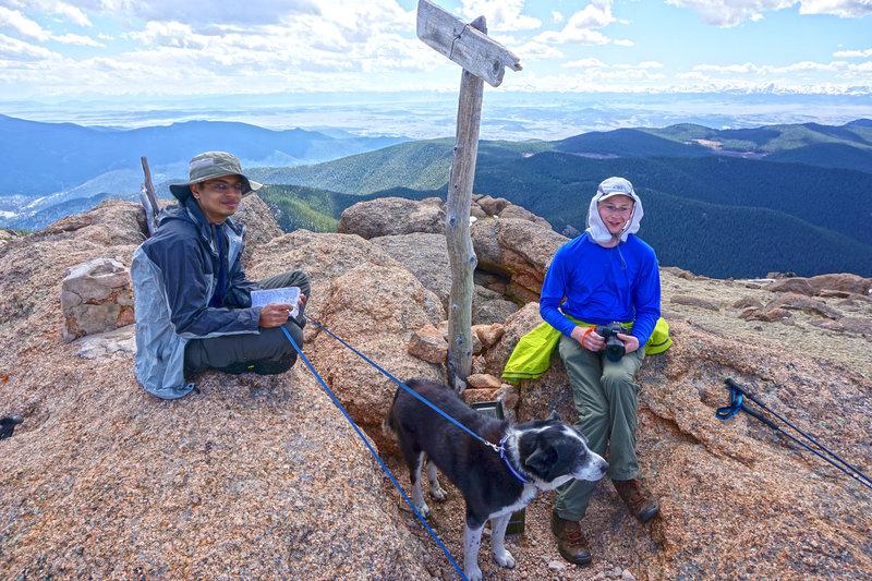 Summit Bison Peak.