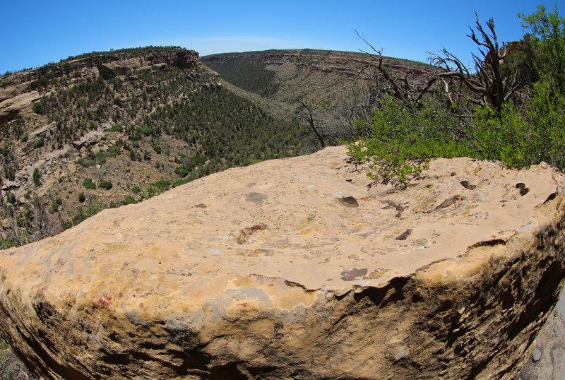 Sandstone boulder at the Nordenskiold Trail overlook.