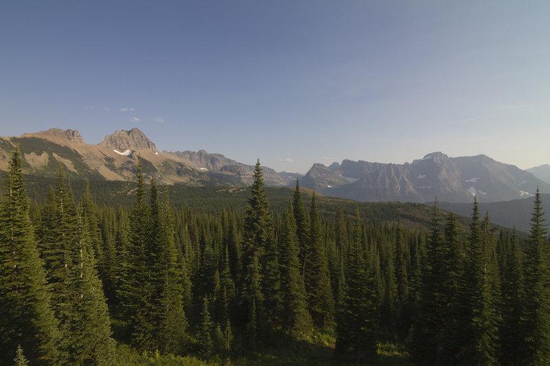 View from The Loop Trail below Granite Park Chalet.