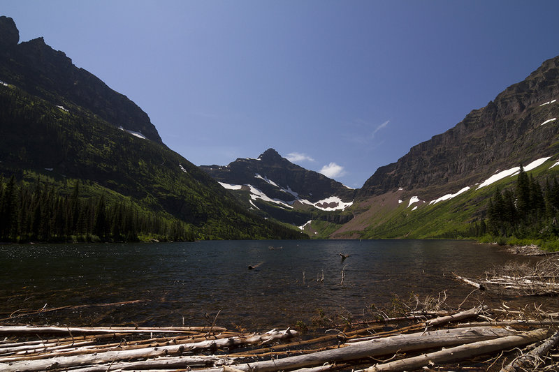 View of Two Medicine Lake from shoreline.
