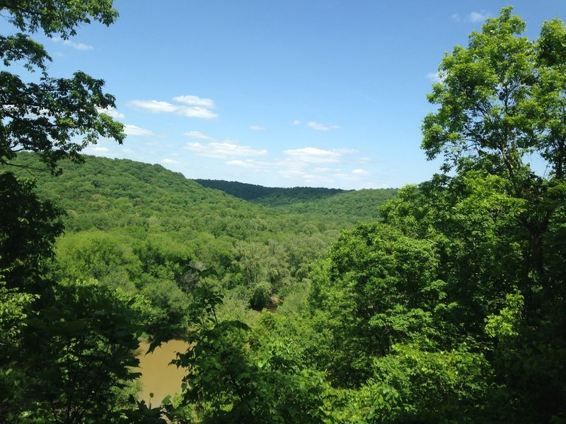 Photo taken from the observation deck on the Turnhole Bend Trail in May 2016.