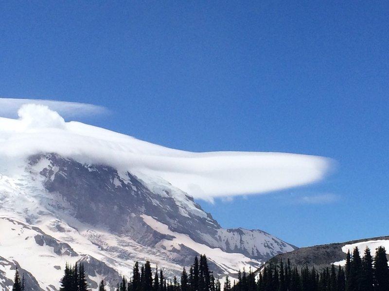 Lenticular cloud near Mt. Rainier.