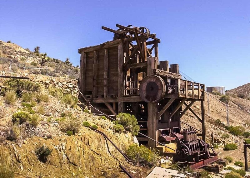 The fading ruins of Lost Horse Mine.