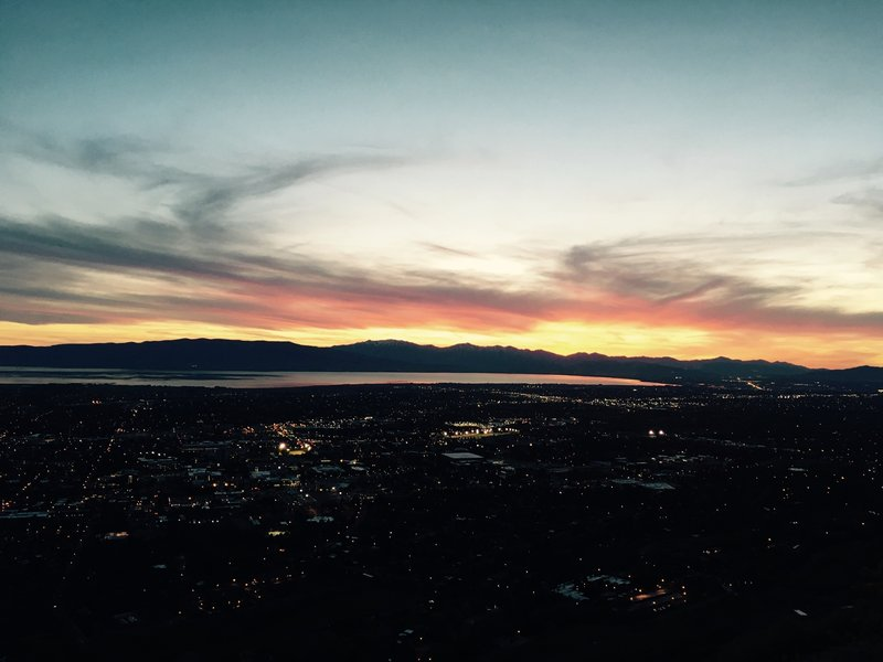 Beautiful sunset from the top of the 'Y'