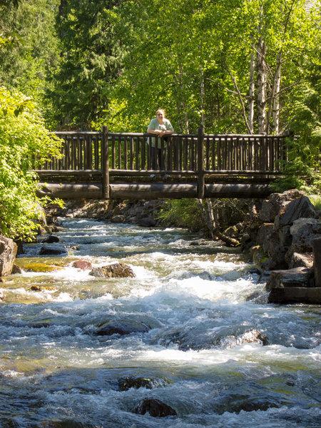Bridge by Lake McDonald lodge.