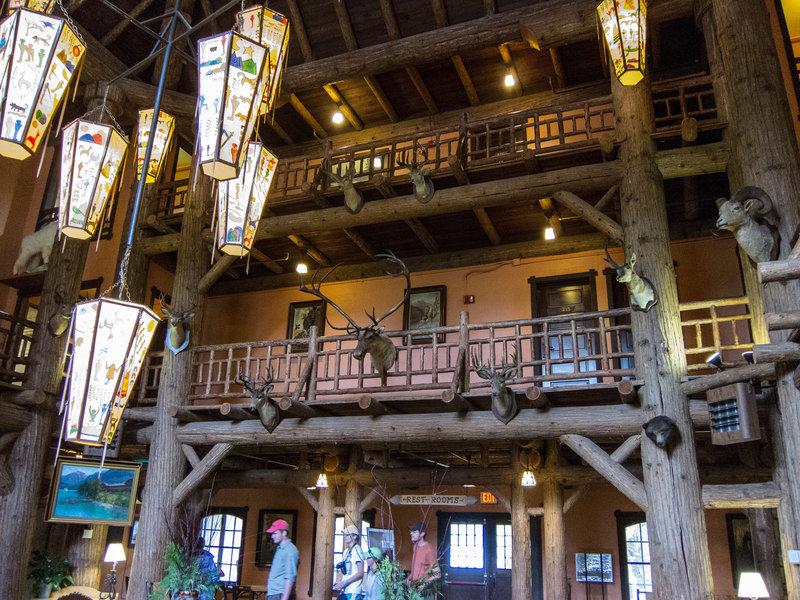 Interior of Lake McDonald Lodge.