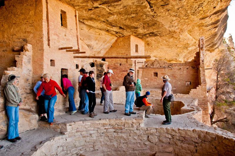Exploring Mesa Verde.