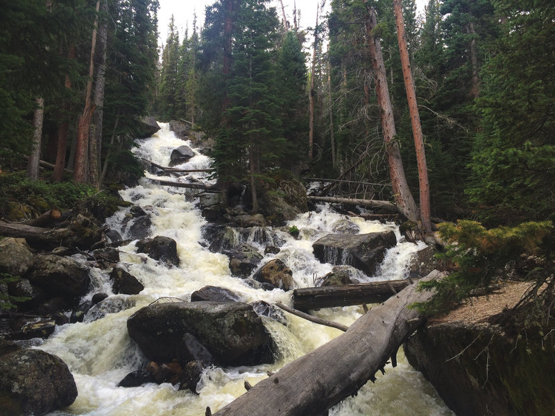 Calypso Cascades pumping with fresh snow melt.