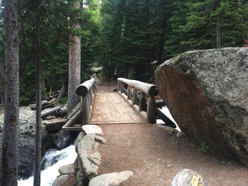 Bridge at the Calypso Cascades.