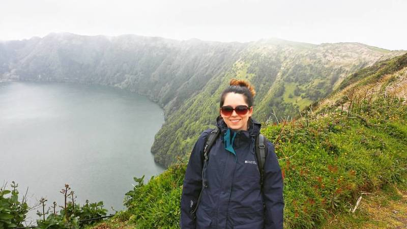 Walking on the Mata do Canario Trail - even with the fog, the views were incredible.