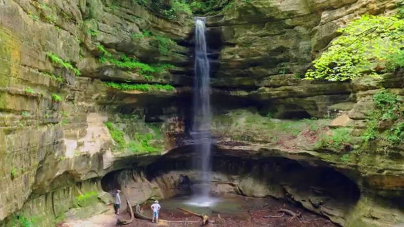 Waterfall at the end of St. Louis Canyon.